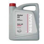 Масло 5W40 Nissan Motor Oil 5 л