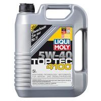 Синтетическое моторное масло 5w40 LIQUI MOLY TOP TEC 4100 5 л